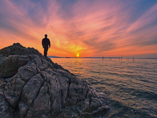 back-view-beach-boulder-2421457