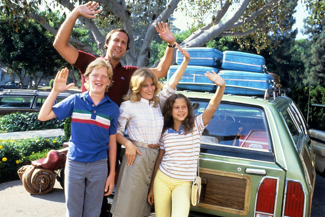 NATIONAL LAMPOON'S VACATION, Anthony Michael Hall, Chevy Chase, Beverly D'Angelo, Dana Barron, 1983