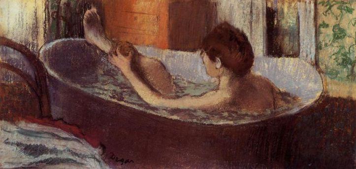 Edgar_Degas,_Femme_dans_son_bain_s'épongeant_la_jambe
