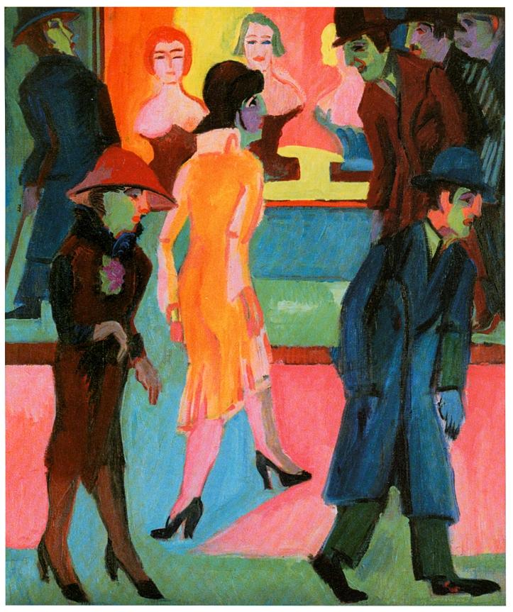 Kirchner_-_Straßenbild_vor_dem_Friseurladen_-_1926