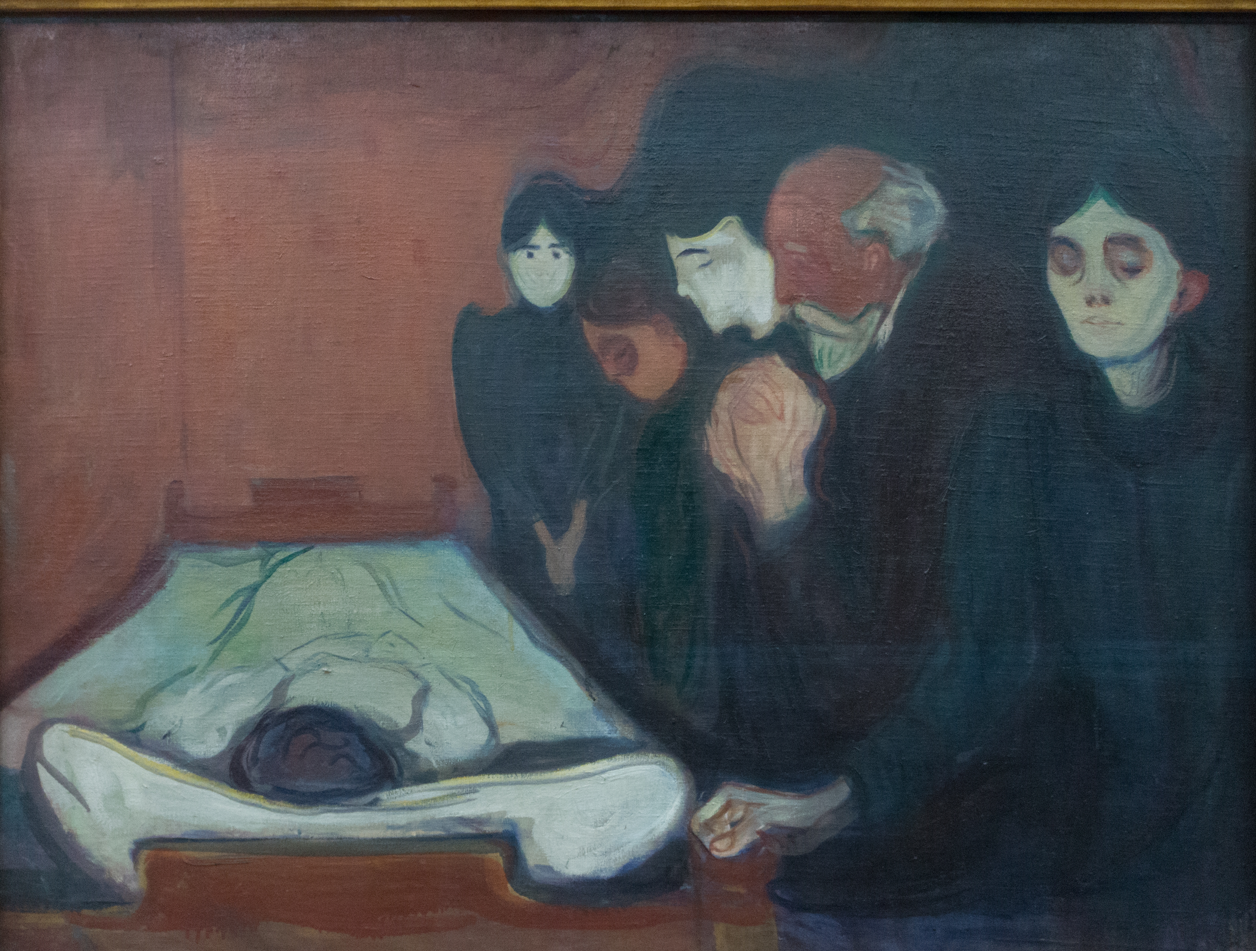 Edvard Munch, At the Deathbed, 1895, oil/tempera on canvas.