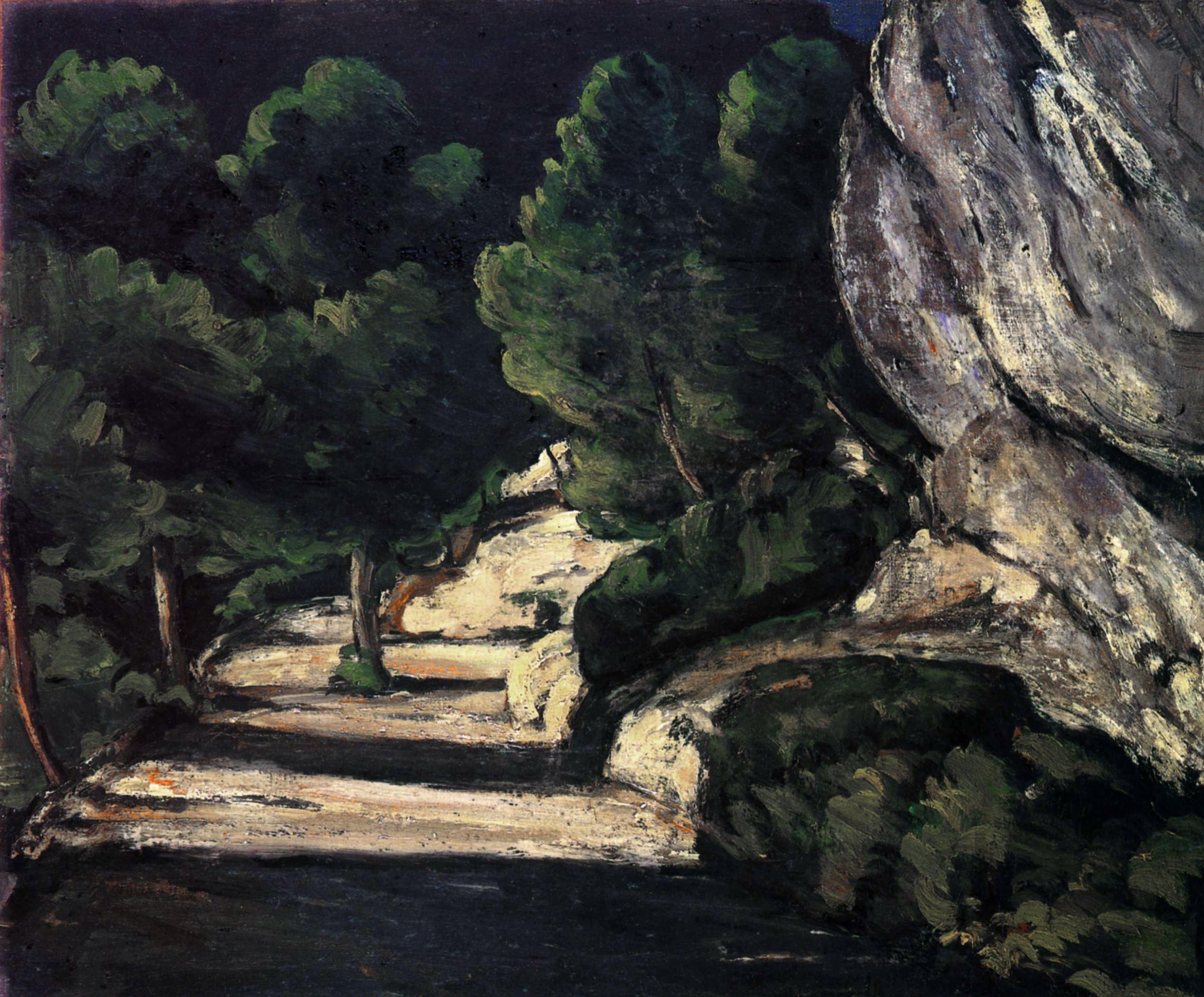 La_Route_forestière,_par_Paul_Cézanne,_Yorck