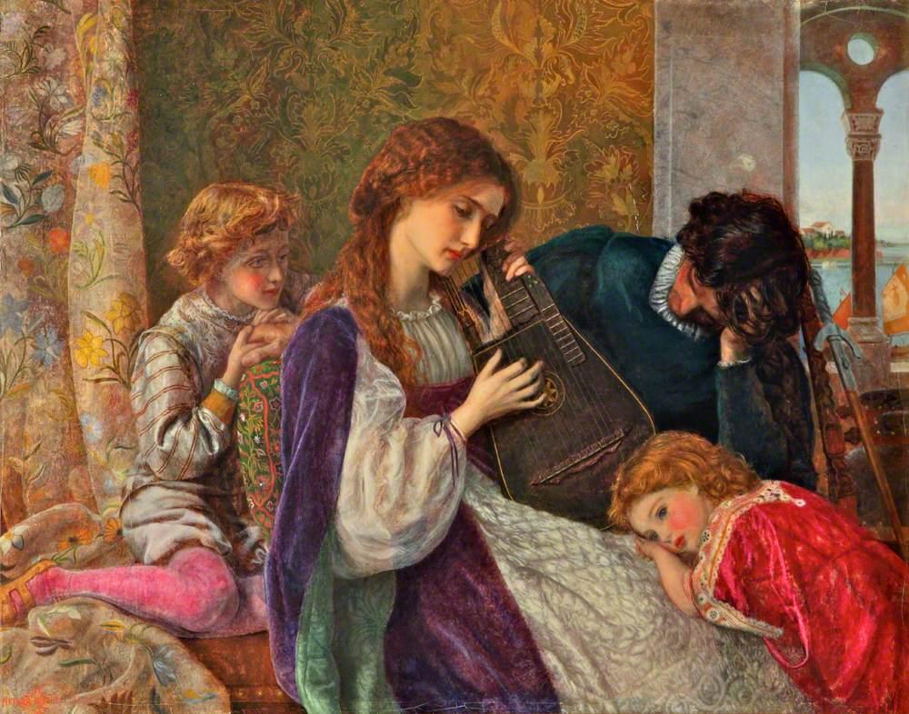 Hughes, Arthur, 1832-1915; A Music Party